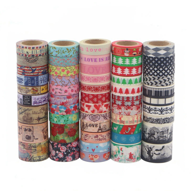 Cute Fabric Patterned Washi Tape Strong Adhesion Scrapbook Gift Wrapping