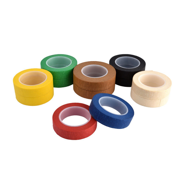 Easy Peel Colored Masking Tape , Rubber Base Colored Packing Tape Heat Resistant