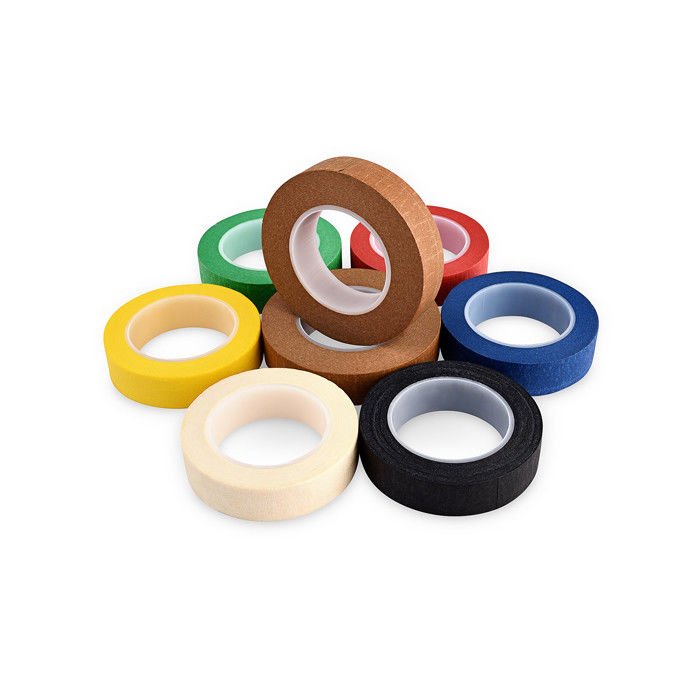 Heavy Duty Narrow Masking Tape Pressure Sensitive Adhesive Colored Residue Free