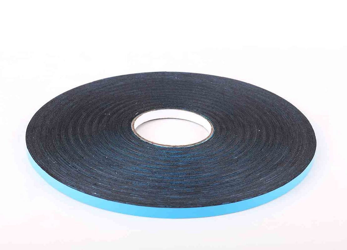 Polyethylene Double Adhesive Foam Tape Heat Resistant With Blue Poly Liner