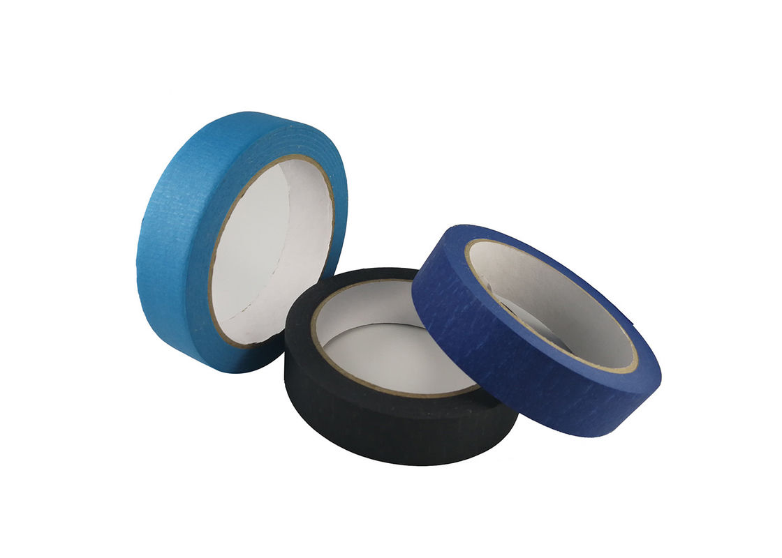 Custom Printed Colored Masking Tape , Skinny Masking Tape Smooth Trimmed Edges
