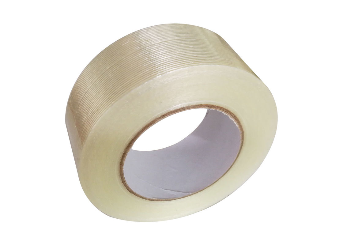 High - Strength Bundling Strapping Fiberglass Mesh Tape  / Filament Adhesive Tape