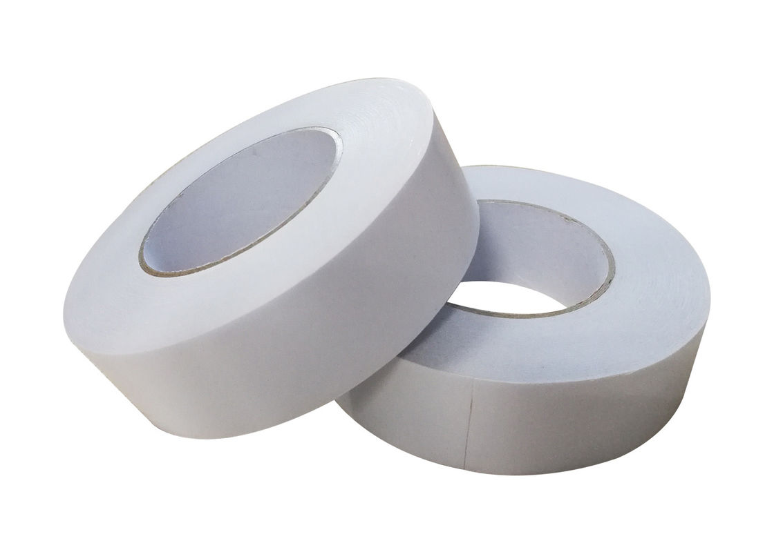 Heat Resistant 100 Degree~150 Degree Double Coated Tissue Tape For Splicing Paper