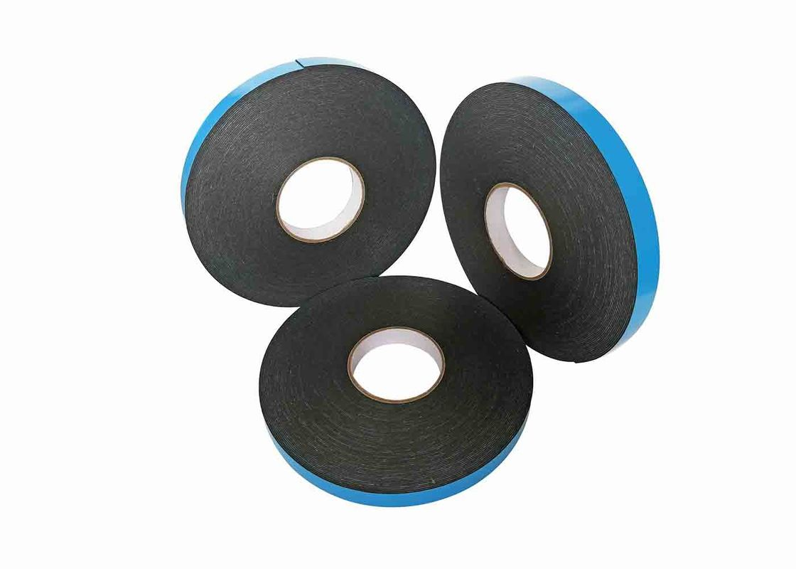 1mm Thick Black Double Sided PE Foam Tape With Blue Film For Car